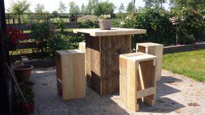 Sta tafel Steigerhout